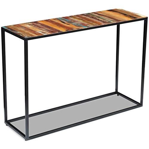 Festnight- Konsolentisch Sideboard   aus Recyceltes Holz und Stahlrahmen   Beistelltisch 110 x 35 x 76 cm   Für Wohnzimmer Schlafzimmer oder Flur