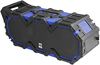 Altec Lansing IMW888-SBLUE Super Lifejacket Rugged Waterproof Bluetooth Speaker, Water Resistant, Multiple Pairing Of Speakers, Built-In Lithium Battery, Aluminum Exterior, Blue