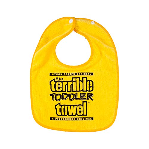 NFL Pittsburgh Steelers Terrible Towel, Black, Gold, One Size Fits Most