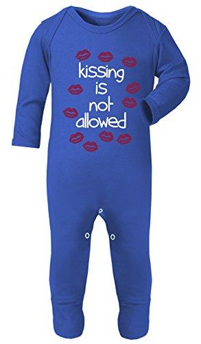 Pyjama Double Face Kiss is Not permis bébé 100% Coton hypoallergénique - Bleu - S