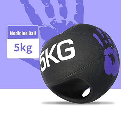 Balón Medicinal Balanza De Equilibrio De Goma Binaural, Gimnasio, Gimnasio, Entrenamiento, Equilibrio, Entrenamiento De Equilibrio, Aeróbic, Bola De Fitness (Size : 5kg/11lbs)