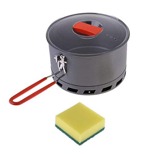 Tubayia Olla de 2,4 l, para exteriores, con esponja de cocina, para camping, senderismo, picnic.