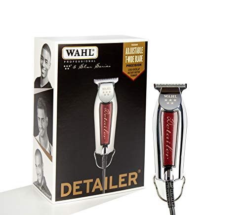 Wahl Professional Series Detailer #8081 - With Adjustable T-Blade, 3 Trimming Guides (1/16' -...