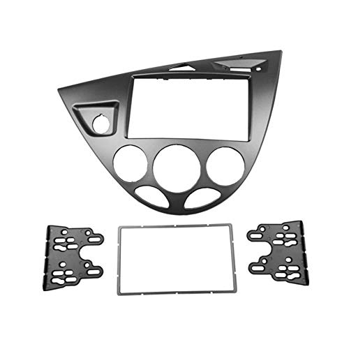 WEISHAN Doble 2 DIN FAsica for Ford Focus/Fiesta estéreo Grupo Radio Montaje instalación en Bastidor Kit de Acabado de la Cara del Bisel (Color Name : Left Wheel Silver, Size : 178x102mm)