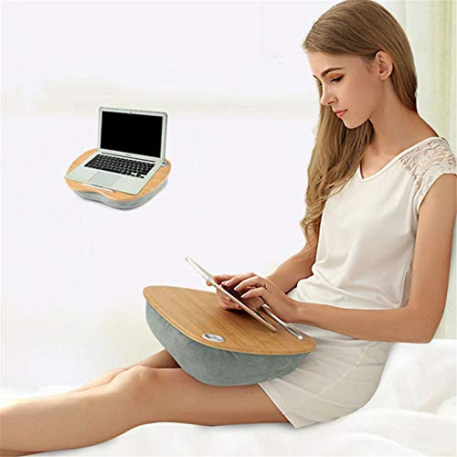 Laptop Stand, Multifunction Laptop Tray Stand Pillow Knee Wooden Table Bed Holder Portable Laptop Desk