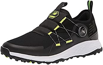New Balance Men's Fresh Foam PaceSL BOA Golf Shoe, Black/Lime, 13 Wide