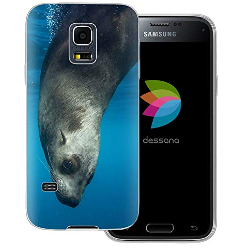 dessana Robbe Seehund - Cover trasparente per Samsung Galaxy S5 Mini Robbe sott'acqua