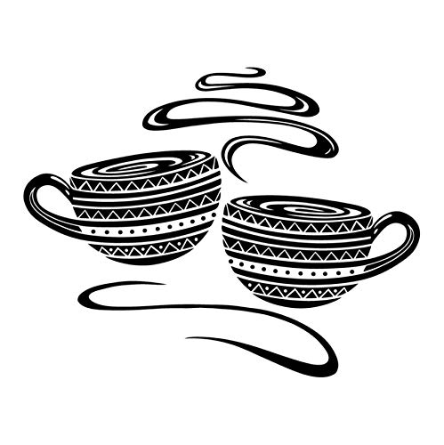 Sticker kaffeetasse vinyl wandaufkleber applique wandbild wandkunst küche küchencafé tapete dekoration haus dekoration 73x57cm
