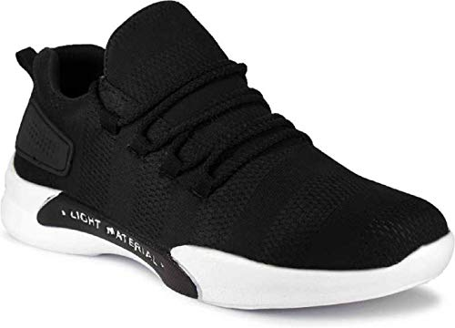 ZGX Men's Black Canvas Bowling Boxing and Wrestling Cricket Shoes 7 UK
