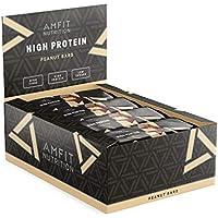 Marca Amazon- Amfit Nutrition Barrita de proteínas sabor a cacahuete, pack de 12 (12x60g)