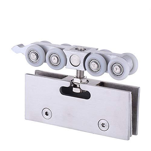 NUZAMAS - Rodillos para puerta de ducha, 4 ruedas de rodillos, poleas de 22 mm de diámetro de rueda inferior superior para cuarto de baño piezas de repuesto para puerta de cristal de 10 a 12cm