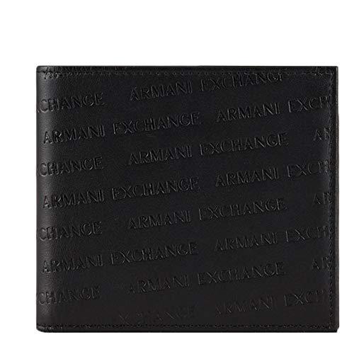 Armani Exchange Herren Bifold W/Credit Card Zweifalten-Geldbörse, Schwarz (Nero-Black), 1.5x11.50x10 cm (B x H x T)