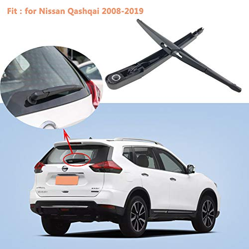 Rabusion New for Car Wiper Back Wiper Arm for Nissan Qashqai 2008-2019