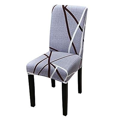 Fundas de silla de comedor elásticas creadas con tejido de poliéster-spandex blando de alta persistencia. Tiene una banda ancha de gran elasticidad. Es super delgado pero duradero, protege tu silla para que no se resbale. Es fácil de lavar, y la fund...