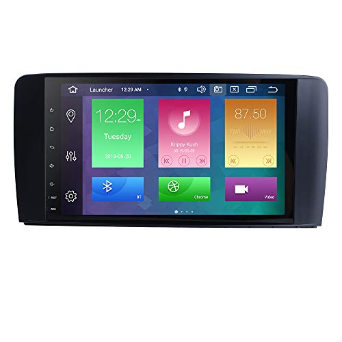 Android 10 Autoradio 4+64G para Benz R-Class 2006-2012/R280/R300/R320/R350/R500/R63 AMG Benz Radio 2 DIN GPS Control del Volante Bluetooth WiFi 4G RDS DSP Dab Entrada de Vista Trasera USB Botones LED