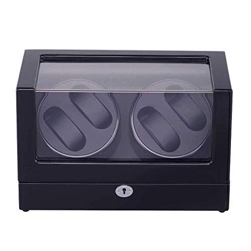 JYTFZD HAOYANG-Scatola dell'orologio- Automatic Rotate Wood Watch Winder Decorages Box Self Auto Windows Box Shell Legno Cuscino in Pelle Cuscino in Pelle Temperato/HDDSBYBQ-1139 (Color : B)