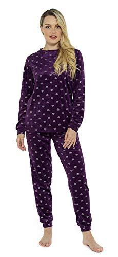 Pijama Mujer Invierno Suave Cómodo con Plumas Prosecco Estrellas Vario Estilos Pijamas Invernal Regalo para Ella