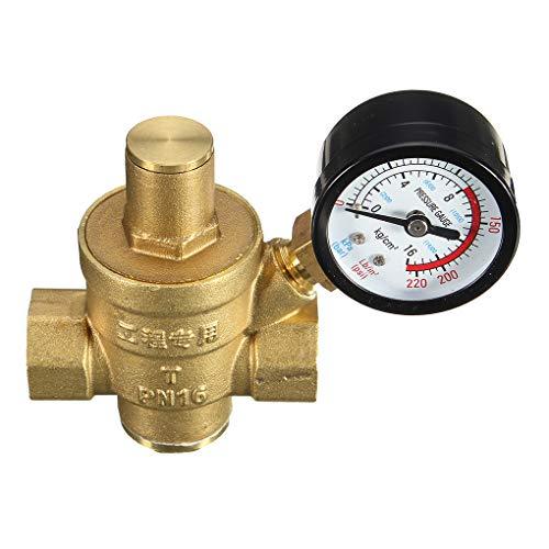 Hohe Qualität DN15 NPT Messing 1/2-Zoll-Adjustable Wasserdruckregler Reducer und Lehren-Messinstrument