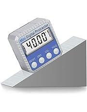 Digital Medidor de Ángulos, Inclinómetro Digital Transportador Base Electrónico Caja 0-360 °, Magnético Inclinómetro Base de bisel Impermeable Medidor de Mitre sierra auto Prueba y Reparación