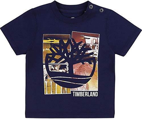 Timberland T-Shirt en Coton Bio à imprimé Layette Indigo Blue 18MOIS