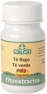 Té Verde, Té Rojo, Piña 60 cápsulas de 500 mg de Sotya