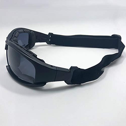 SunAll Suciedad Anteojos militares bici de la motocicleta que compite con gafas a prueba de balas del Ejército C6 gafas de sol polarizadas lente 4 Caza Disparos Airsoft ciclo de la motocicleta de los