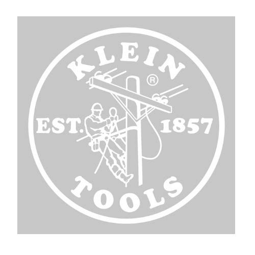 Klein Tools Hard Hat/Cap Decal, 2.4-Inch, White Lineman Logo MBE00131