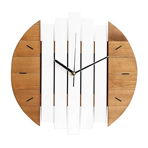 SMEJS Xylophone Wooden Wall Reloj Moderno diseño Vintage rústico Shabby Reloj Tranquilo Arte Reloj decoración del hogar