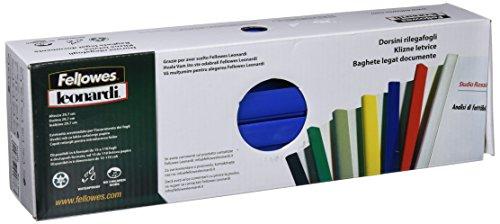 Fellowes D116BL Dorsini Rilegafogli Triangolari, Diametro 16 mm, Confezione da 25 Pezzi, Blu