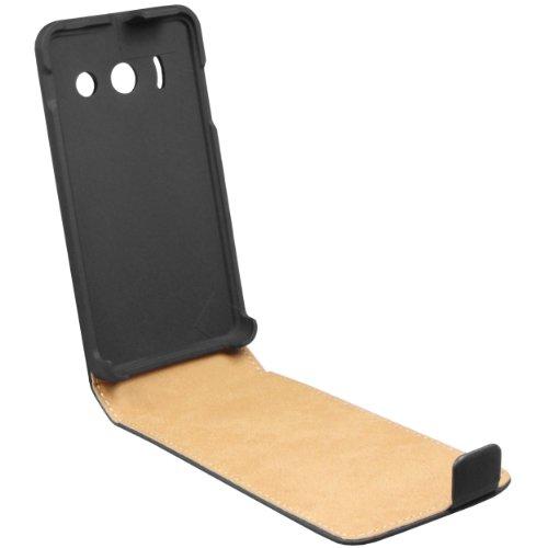 mumbi Tasche Flip Case kompatibel mit Huawei Ascend Y300 Hülle Handytasche Case Wallet, schwarz - 6
