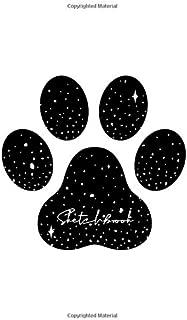Sketchbook: Black Footprint Sketchbook : 110 Pages of 8.5