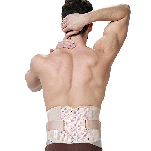 Rückenstütze für Herren - sehr leichtes & atmungsaktives Material für Sport - verstellbare Kompression - für Schmerzlinderung im unteren Rücken - Neotech Care - Schwarz - S