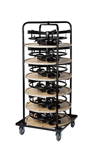 Rollbehälter, Rollwagen inklusive 6 Stehtische Granit 70cm Durchmesser, Bistrotisch Gartentisch rund höhenverstellbar