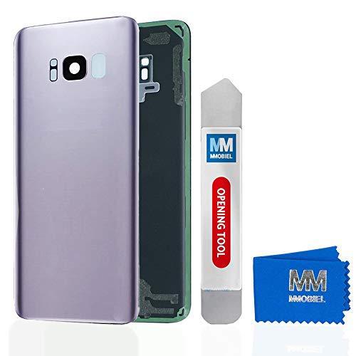 MMOBIEL Tapa Bateria/Carcasa Trasera con Lente de Cámara Compatible con Samsung S8 G950 5.8 Pulg. (Gris Orquídea)