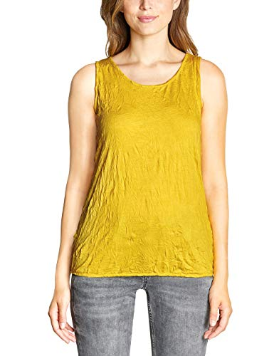 CECIL Damen 313751 Top, Gelb (ceylon yellow 11892), Medium (Herstellergröße:M)