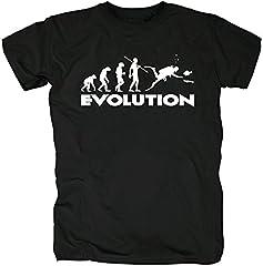 TSP Buceo de la Evolución Camiseta para Hombre