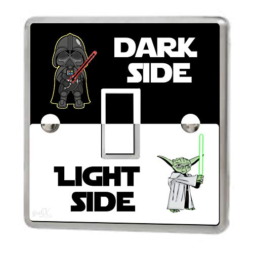 Star Wars Light Side Dark Side Light Switch Sticker Cover Vinyl/Skin cover, sw154