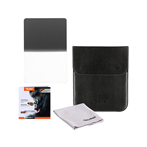 Rollei Filtro rectangulares profesionale Mark II - Filtro de Densidad Neutra Graduado (180x210 mm) Gorilla Glass con gradación Dura - Hard GND 8 (3 Stops/0,9) Sistema 180 mm