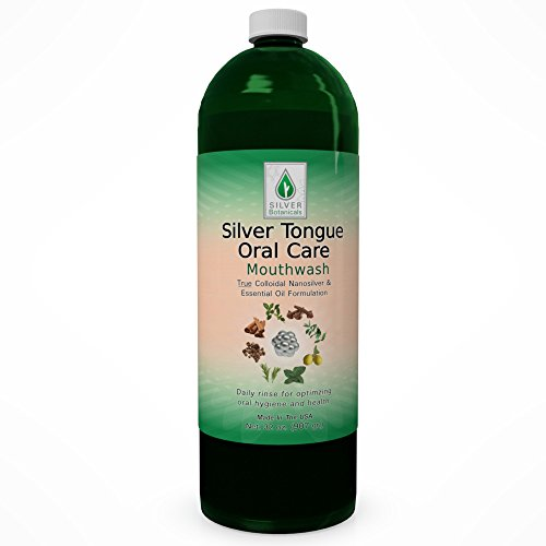 Silver Tongue Oral Care - All Natural Colloidal Silver Mouthwash, 32 oz.