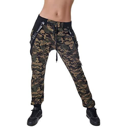 Crazy Age Camouflage |Baggyhose |Aladinhose |Tanzhose |Sporthose | Tarnhose | Newcomer (Woodland, XL~40)