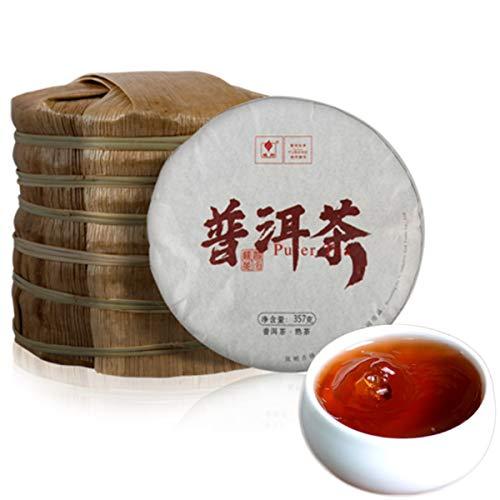 357g (0.787lb) Pu-erh té cocido torta de té maduro Gran té original de Shu Pu'er Hecho en China Té negro Té Puer Té chino Pu er té Puerh té Pu erh té Té rojo Pu-erh Té puerh té