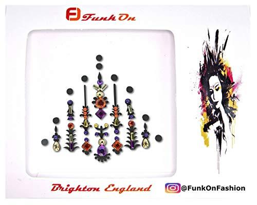 Purple Face Gem/Crystal Face Jewels For Festivals/Body Jewel glitter tattoo/All In One Stick On Bindi/Rhinestone Jewellery Headpiece/Festival Makeup/p