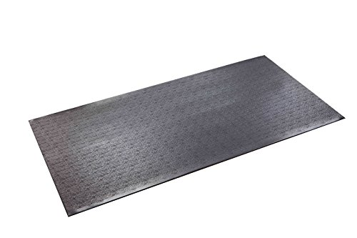 SuperMats High Density Commercial Grade Solid Equipment Mat 40GS  Made in U.S.A. for Cardio Equipment Recumbent Bikes and General Floor Mat Needs  (2.5 Feet x 5 Feet)  (30 in x 60 in) (76.2 cm x 152.4 cm)