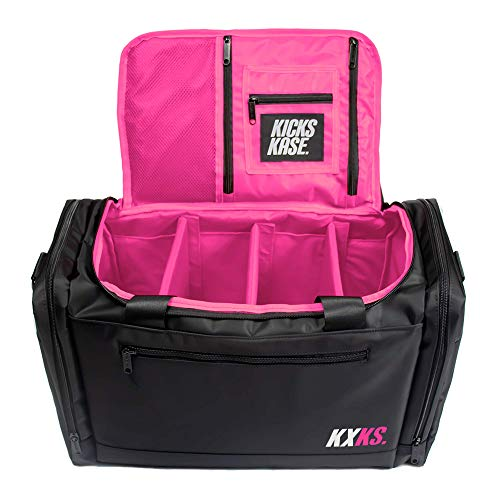 KXKS. (Kicks Kase) Premium Sneaker Bag & Travel Duffel Bag - 3 adjustable compartment dividers - For shoes, clothing and gym…
