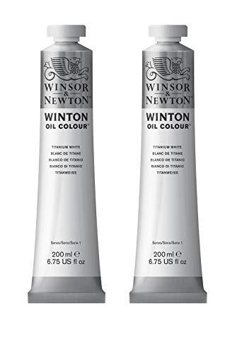 Winsor & Newton Ölfarbe, Titanweiß, 4,8 x 9,6 x 21,7 cm ,200ml (x2)