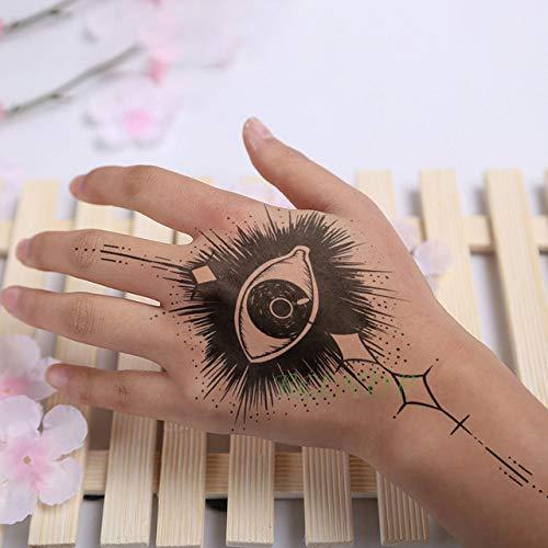 5pcs Impermeable engomada del Tatuaje del cráneo de la Cabeza Tatto Tatuaje Posterior de la Mano del pie Tatouage para la niña Hombres Grupo womenâ Gris Oscuro 15.10.5cm