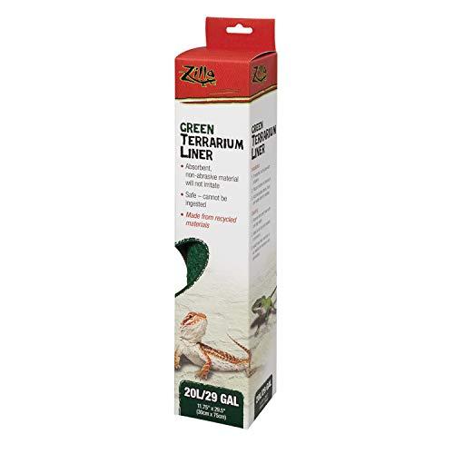 Zilla Reptile Terrarium Liners Green 20L/29/37 Gallon