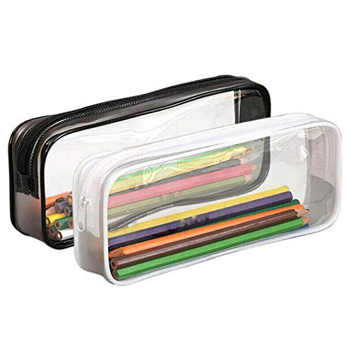 2 PCS Clear Pencil Case, ARKIM Big Capacity Clear Exam Pencil Case Pouch,...