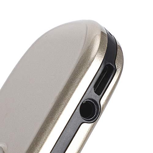 Denkerm Teléfono móvil Recto, Resistente al Desgaste, en Varios Idiomas, Robusto, tamaño Compacto, teléfono móvil con Botones, para Personas Mayores con una Sola Mano(Champagne Gold, Transparency)