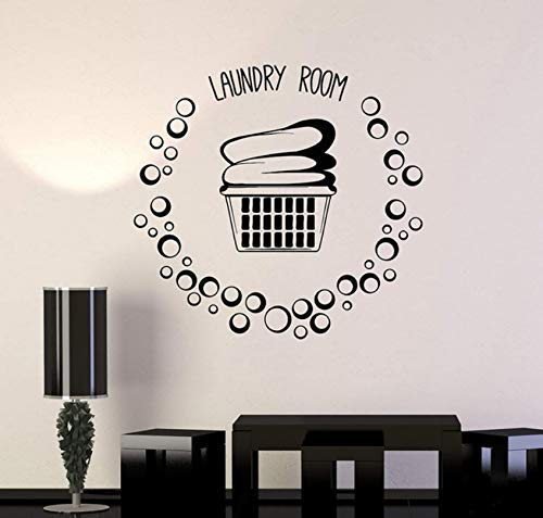 Wasmand Kleding Schuim Vinyl Muurtattoo Woondecoratie Kunst Muurschildering Beweegbaar 57X60Cm
